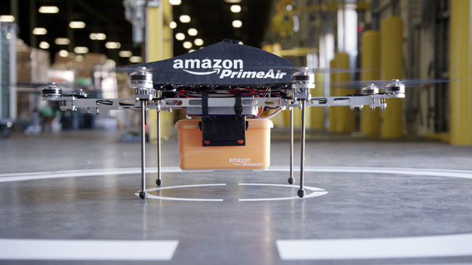 Amazon applies for approval of delivery drones