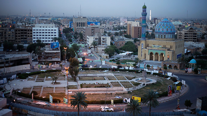A general view of Firdos Square, one of the main squares of Baghdad (Reuters / Ahmed Jadallah)