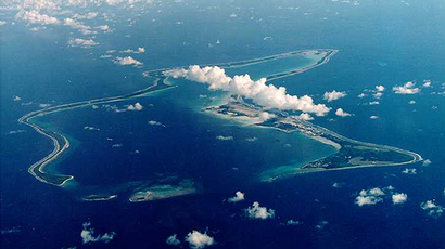 An undated file photo shows Diego Garcia, the largest island in the Chagos archipelago (Reuters)