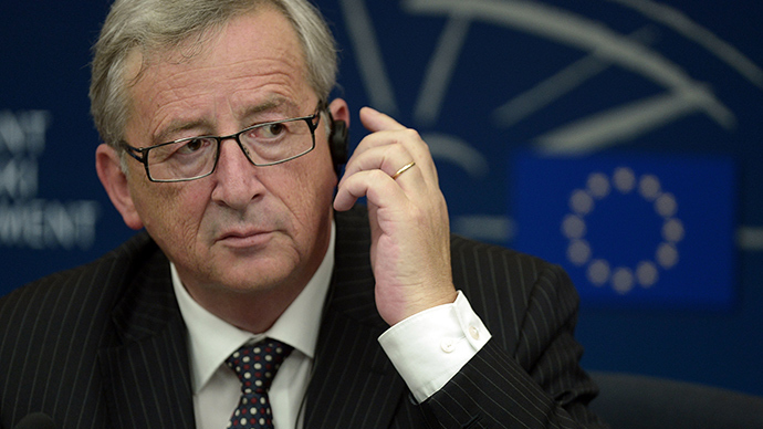 Newly elected European Commission President Jean-Claude Juncker gives a press conference on July 15, 2014 with the European Parliament head at the European Parliament in the eastern French city of Strasbourg (AFP Photo / Frederic Florin)