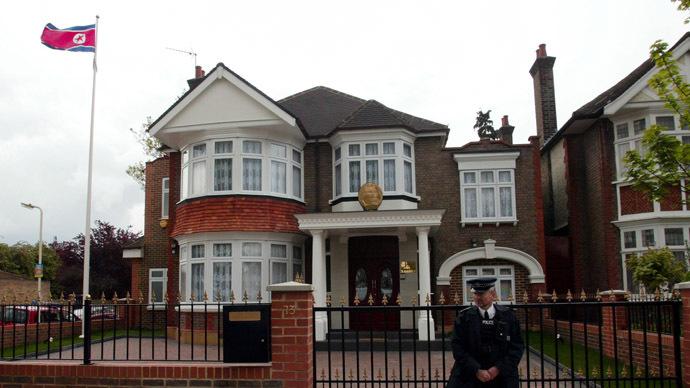 North Korean Embassy in west London (Reuters/Stephen Hird)