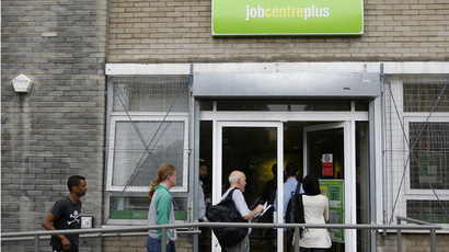 People enter a job centre in London (Reuters/Stephen Hird)