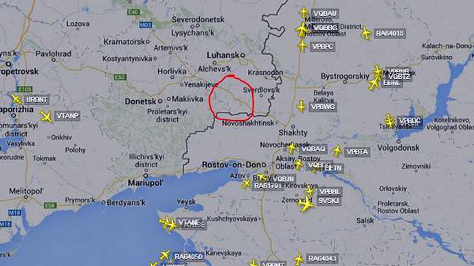 Screenshot from flightradar24.com