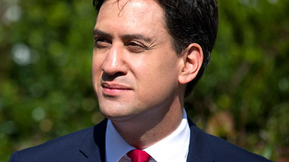 British Labour Party leader Ed Miliband (AFP Photo / Justin Tallis)