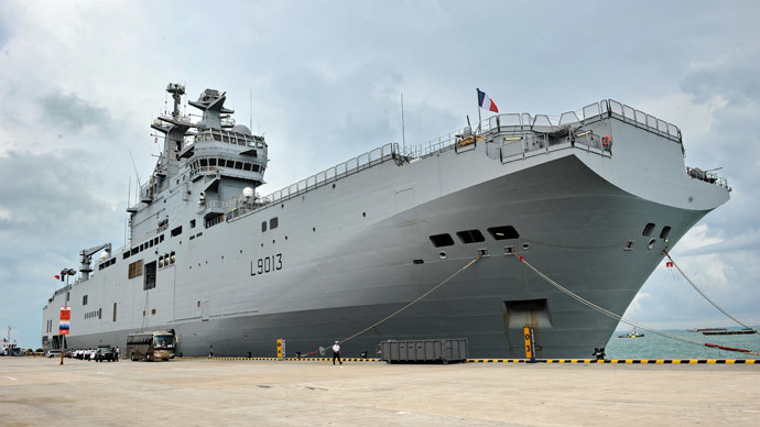 French naval ship FNS Mistral.(AFP Photo / Roslan Rahman)
