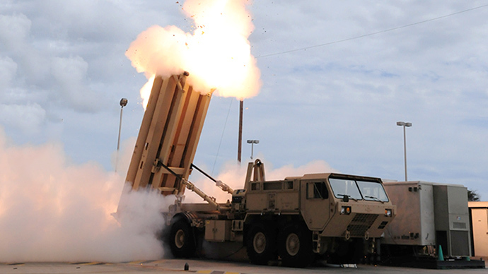 This handout image courtesy of the US MIssile Defense Agency shows the launch of the Terminal High Altitude Area Defense (THAAD) missile during a test. (AFP Photo)