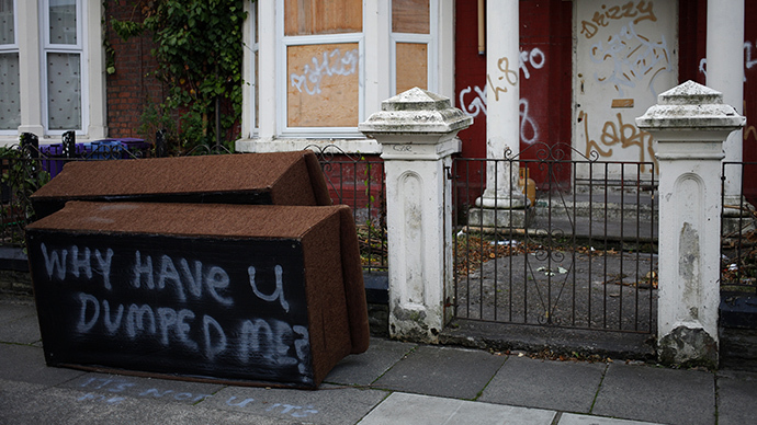 A boarded up house in Liverpool, northern England. (Reuters / Phil Noble)