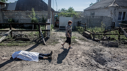 The aftermath of an artillery shelling of Slavyansk by the Ukrainian military (RIA Novosti / Andrey Stenin)