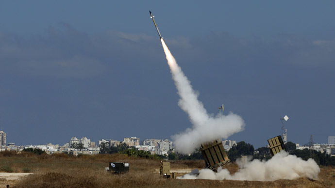 An Iron Dome launcher fires an interceptor rocket in the southern Israeli city of Ashdod July 9, 2014. (Reuters/Baz Ratner)