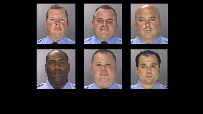(TOP L-R) Brian Reynolds, Michael Spicer, John Speiser (BOTTOM L-R) Linwood Norman, Perry Betts, Thomas Liciardello (RT / Philadelphia Police Department)
