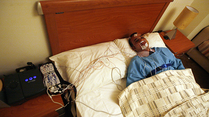 A sleep study (AFP Photo / Khaled Desouki)