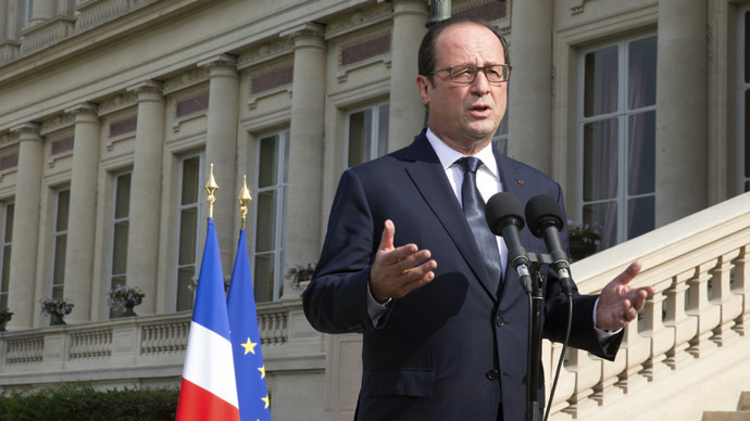France's Hollande urges action on 'massacres' in Gaza