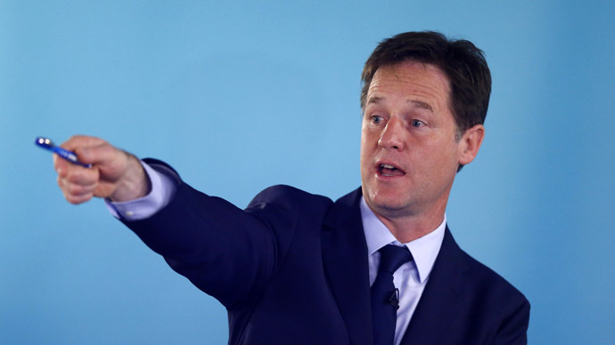 Britain's Deputy Prime Minister and leader of the Liberal Democrats, Nick Clegg (Reuters/Andrew Winning)