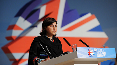 UK Foreign Office minister Baroness Sayeeda Warsi (AFP Photo)