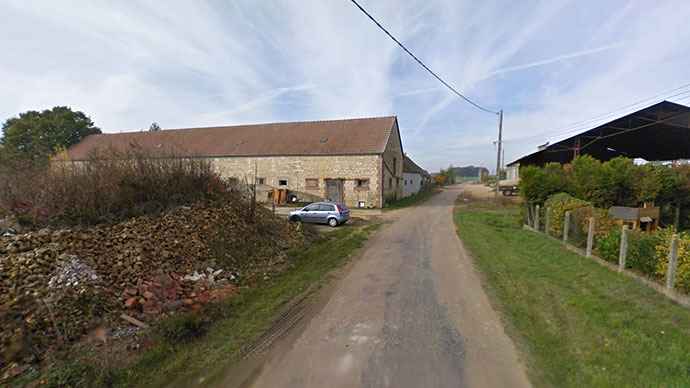 Street view of a tiny French village that is still bearing a medieval name La Mort aux Juifs or 'Death to Jews'. (Image from maps.google.com)