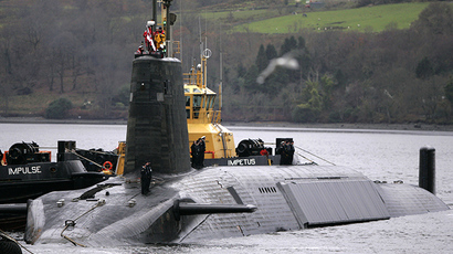 A British Royal Navy Vanguard class Trident Ballistic Missile Submarine. (Reuters / David Moir)