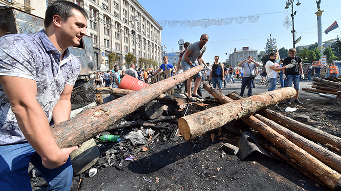 Kiev, Ukraine, August 9, 2014 (AFP Photo / Sergei Supinsky)