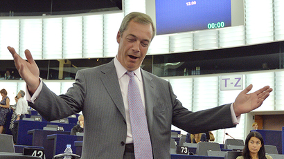 Leader of the UK Independence Party (UKIP) Nigel Farage (AFP Photo / Patrick Hertzog)