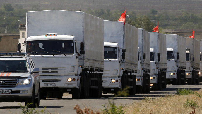 Russia's humanitarian aid to cross into Ukraine in batches
