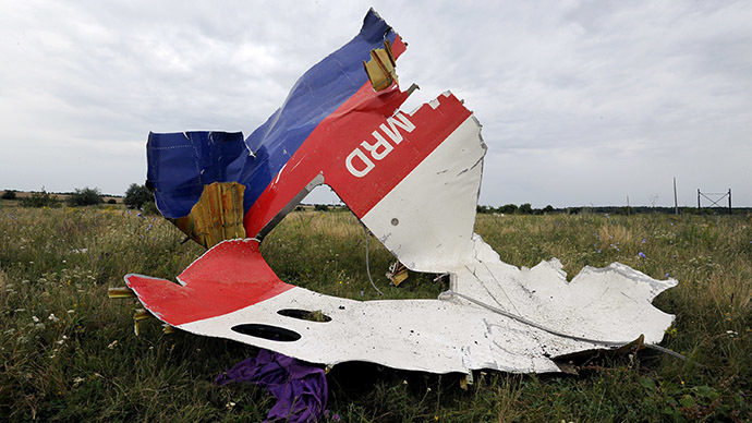 A piece of wreckage of the Malaysia Airlines flight MH17 is pictured on July 18, 2014 in Shaktarsk, the day after it crashed. (AFP Photo / Dominique Faget)