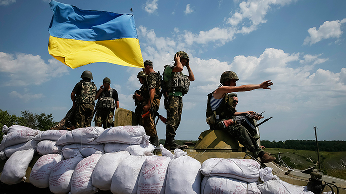 Ukrainian troops are pictured near the eastern Ukrainian town of Seversk (Reuters / Gleb Garanich)