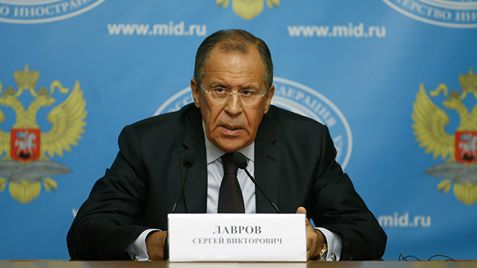 Russia's Foreign Minister Sergei Lavrov attends a news conference in Moscow, August 25, 2014. (Reuters / Maxim Zmeyev)
