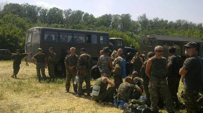 Kiev loses control of Novoazovsk, rebel troops advance in southeast Ukraine