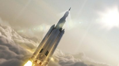 NASA's Space Launch System (SLS) 70-metric-ton configuration is seen launching to space in this undated artist's rendering released August 2, 2014.(Reuters / NASA)