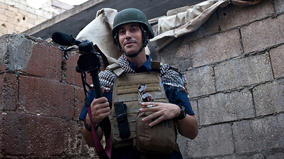 This hand out picture courtesy of Nicole Tung taken on November 5, 2012 in Aleppo shows US freelance reporter James Foley (AFP Photo / Nicole Tung)