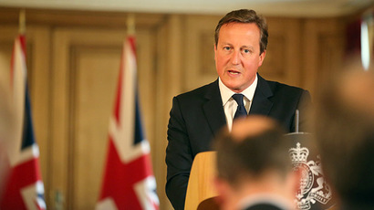 Britain's Prime Minister David Cameron speaks at a news conference in Downing Street, central London August 29, 2014. (Reuters / Paul Hackett)