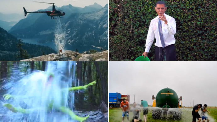 From 'Obama'... to Irish farmers! RT's crazy Ice Bucket Challenge Top 10