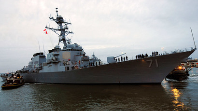 The guided-missile destroyer USS Ross.(Reuters / Tamekia L. Perdue)