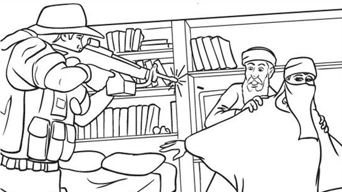 isis coloring pages - terror update controversial anti isis coloring book