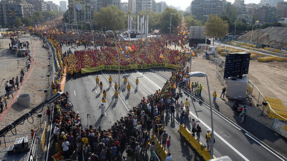 1.8mn people, 11km line: Catalonians stage their biggest independence rally