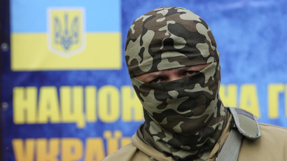 "Semyon Semenchenko, commander of the ""Donbass"" self-defence battalion, June 2, 2014. (Reuters/Valentyn Ogirenko)"