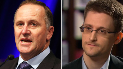 New Zealand's Prime Minister John Key (L) and Edward Snowden (Reuters/AFP)