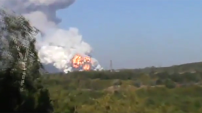 Huge blast devastates munitions factory in Ukraine's rebel-held Donetsk (VIDEO)