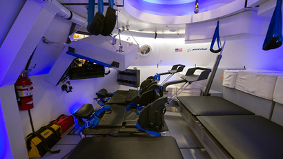An interior view of Boeing's CST-100 spacecraft, which features LED lighting and tablet technology, is seen in an undated NASA handout image (Reuters / NASA)