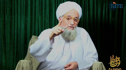 Al-Qaeda leader Ayman al-Zawahiri  (AFP Photo / SITE)