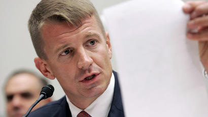 Blackwater Chief Executive Erik Prince testifies before the House Oversight and Government Reform Committee on security contracting in Iraq and Afghanistan on Capitol Hill in Washington, October 2, 2007. (Reuters/Larry Downing)