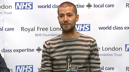 William Pooley speaks at a conference in London on 3 September 2014. Screenshot taken from YouTube