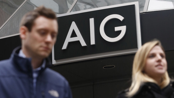 AIG shareholders sue government claiming their $182 bn bailout wasn't favorable enough