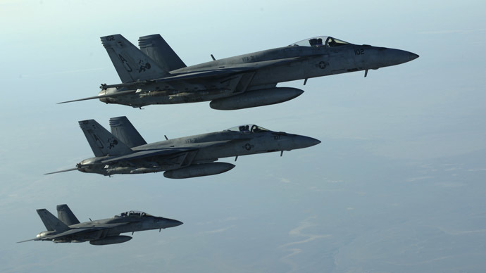 A formation of U.S. Navy F-18E Super Hornets (Reuters/Shawn Nickel/U.S. Air Force)