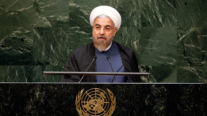 Iranian President Hassan Rouhani addresses the 69th United Nations General Assembly at United Nations Headquarters in New York, September 25, 2014 (Reuters / Mike Segar)