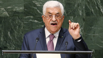 Palestinian President Mahmoud Abbas addresses the 69th United Nations General Assembly at United Nations Headquarters in New York, September 26, 2014. (Reuters/Mike Segar)