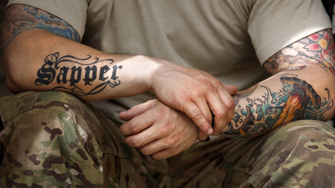 Inked brigade uk army lifts ban on hand neck tattoos for Tattoos in the british army