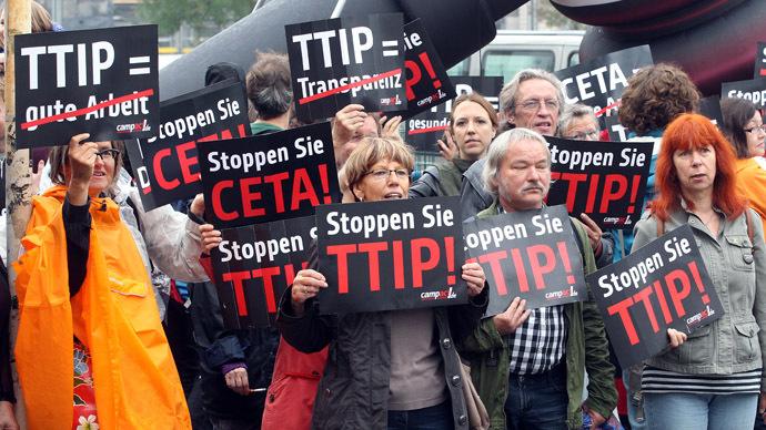 #NoToTTIP: 1,000s to march in UK, across Europe against transatlantic trade deal