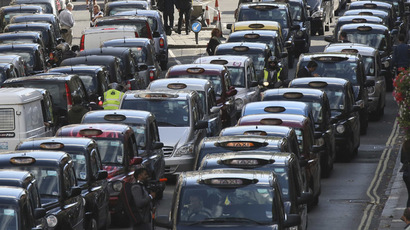 London taxis. (Reuters/Paul Hackett)