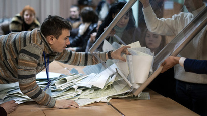 Counting ballots during election to Ukraine's Verkhovna Rada. (RIA Novosti/Ramil Sitdikov)