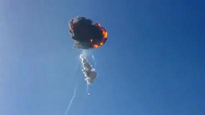SpaceX Falcon 9-R Dev1 Explosion (youtube.com/Garrett Frankson)